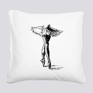 Ballet Square Canvas Pillow