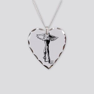 Ballet Necklace Heart Charm