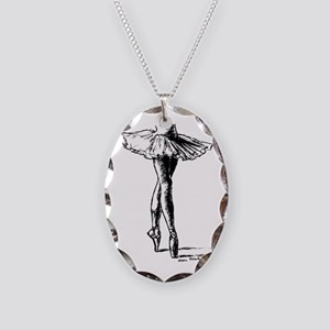 Ballet Necklace Oval Charm