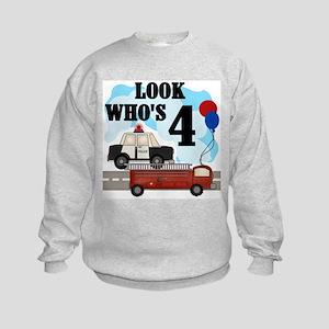 Everyday Heroes 4th Birthday Kids Sweatshirt