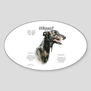 Whippet Sticker (Oval)