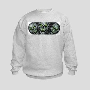 Green-Eyed Skulls Kids Sweatshirt