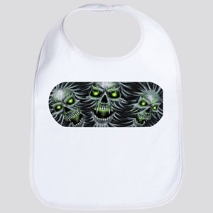 Green-Eyed Skulls Bib