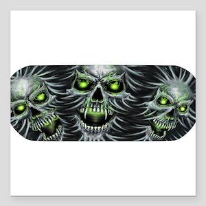 "Green-Eyed Skulls Square Car Magnet 3"" x 3"""