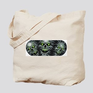 Green-Eyed Skulls Tote Bag