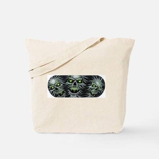 Green-Eyed Skulls Tote Bag