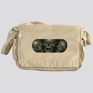 Green-Eyed Skulls Messenger Bag