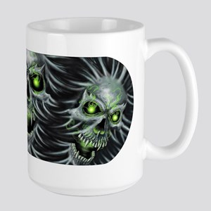 Green-Eyed Skulls Large Mug