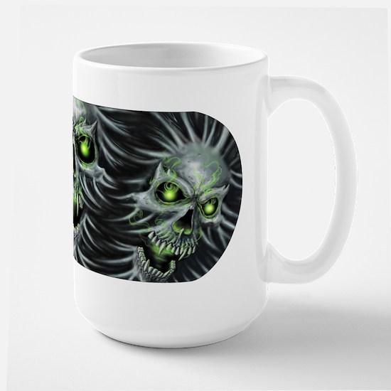 Green-Eyed Skulls Large Mug