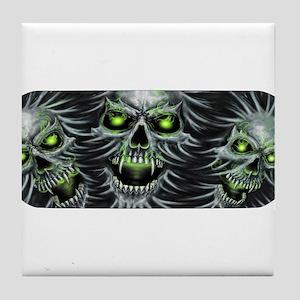 Green-Eyed Skulls Tile Coaster