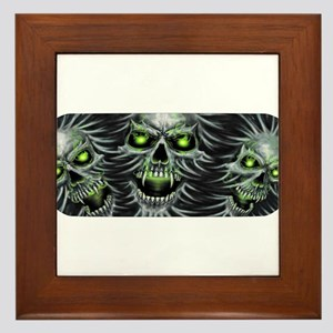 Green-Eyed Skulls Framed Tile
