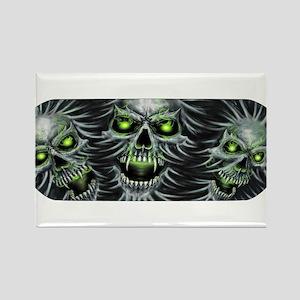 Green-Eyed Skulls Rectangle Magnet