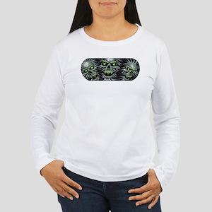 Green-Eyed Skulls Women's Long Sleeve T-Shirt