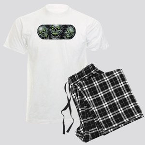 Green-Eyed Skulls Men's Light Pajamas