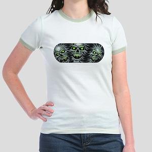 Green-Eyed Skulls Jr. Ringer T-Shirt