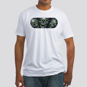 Green-Eyed Skulls Fitted T-Shirt
