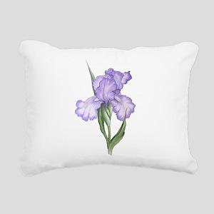 The Purple Iris Rectangular Canvas Pillow