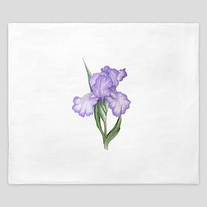 The Purple Iris King Duvet