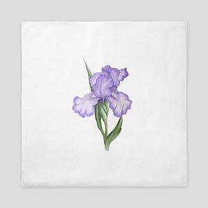 The Purple Iris Queen Duvet