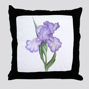 The Purple Iris Throw Pillow