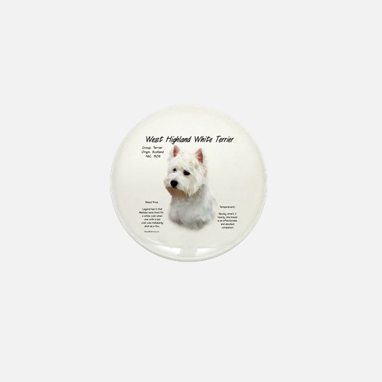 West Highland White Terrier Mini Button