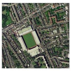 Arsenal's Highbury stadium, aerial view Poster