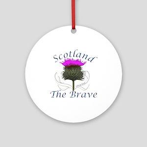 Scotland The Brave Thistle Ornament (Round)