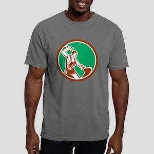 Blacksmith Hammering Pli Mens Comfort Colors Shirt