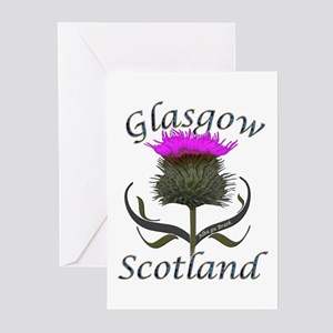Glasgow Scotland Thistle Greeting Cards (Pk of 10)