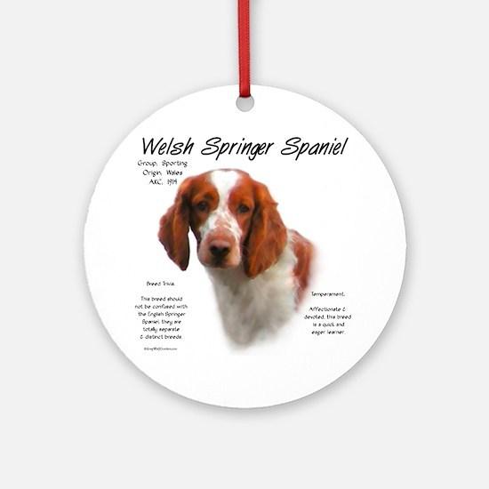 Welsh Springer Spaniel Round Ornament