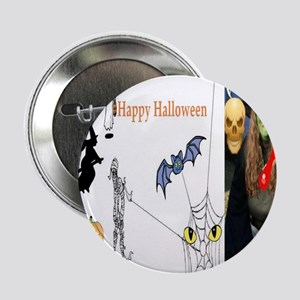 "Halloween Witch 2.25"" Button"