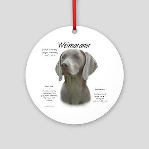 Weimaraner Round Ornament