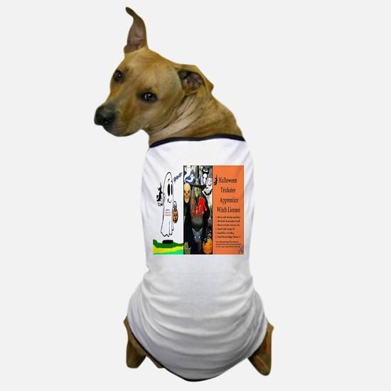 Halloween Witch License Dog T-Shirt