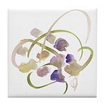 Atom Flowers #19 Tile Coaster