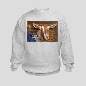 I'm not a kid any more: goat Kids Sweatshirt