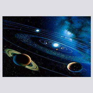 Artwork of the solar system
