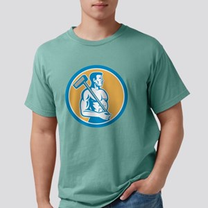 Union Worker With Sledge Mens Comfort Colors Shirt