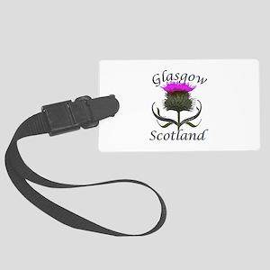 Glasgow Scotland Thistle Large Luggage Tag