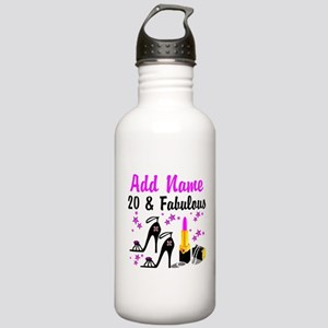 HAPPY 20TH BIRTHDAY Stainless Water Bottle 1.0L