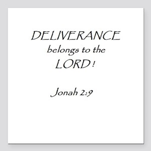 "jonah 2:9 Square Car Magnet 3"" x 3"""