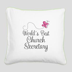 Church Secretary Gift Square Canvas Pillow
