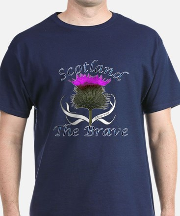 Scotland The Brave Thistle T-Shirt