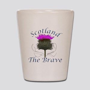 Scotland The Brave Thistle Shot Glass