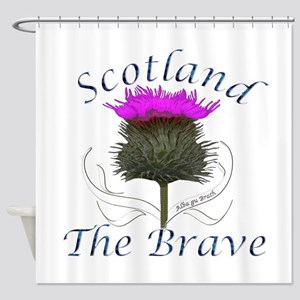 Scotland The Brave Thistle Shower Curtain