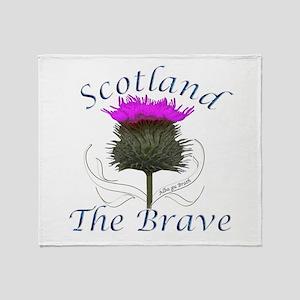 Scotland The Brave Thistle Throw Blanket