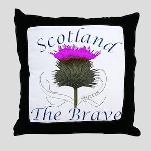 Scotland The Brave Thistle Throw Pillow