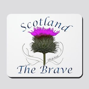 Scotland The Brave Thistle Mousepad