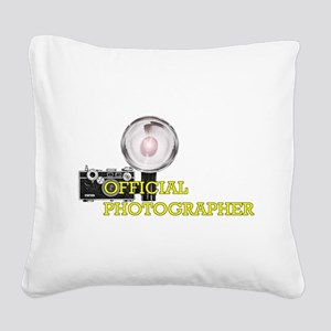 Official Photographer-2 Square Canvas Pillow