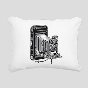 vintage camera-3 Rectangular Canvas Pillow