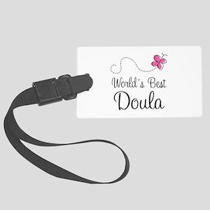Doula (Worlds Best) Large Luggage Tag